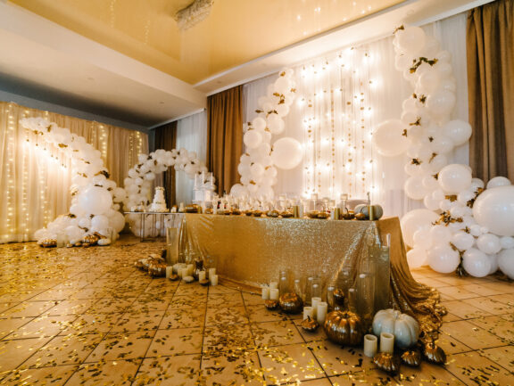 white balloon decorations for wedding in Seattle wa